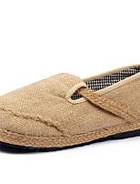 sapatos de viagem&slip-ons verão alpercatas inverno queda de escritório ao ar livre linho&carreira trançado casuais bege cinta