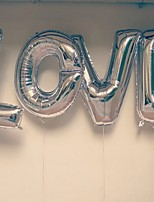 40inch L-O-V-E  4words Balloons Silver Beter Gifts® Party Decoration