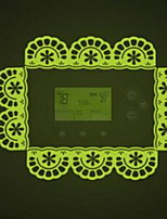 Shape Lace Luminous Light Switch Stickers Vinyl Material Home Decoration