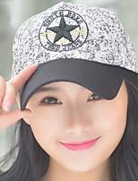 женщины весна лето вышивка пятиугольная звезда печать бейсболка солнце на открытом воздухе шляпу