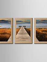 Giclee Print Famous Landscape Classic Realism,Three Panels Vertical Panoramic Print Wall Decor For Home Decoration