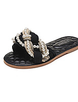 Sandals Spring Summer Fall Comfort Fabric Casual Flat Heel Braided Strap Black