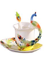 Novedades Clásico Ir Artículos para Bebida, 230 ml Termoaislante Cerámica Marrón Café Leche Tazas de Café