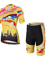 Miloto Cycling Jersey with Shorts Unisex Short Sleeve Bike Breathable Compression 3D Pad Sweat-wickingPadded Shorts/Chamois Clothing