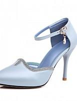 Mariage Bureau & Travail Habillé Décontracté Soirée & Evénement-Bleu Rose Blanc-Talon Aiguille-Nouveauté Confort-Chaussures à Talons-