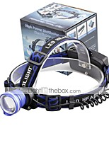 U'King® ZQ-X837BL CREE XML T6 Zoomable 180 Rotate 3Modes Headlamp Bike Light with Rear Safety LED