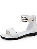 Черный Белый Черный желтыйДля прогулок Для праздника Повседневный-Дерматин-На толстом каблуке-клуб Обувь-Сандалии