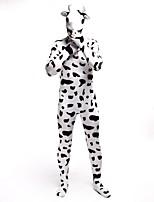 Costumes de Cosplay Animal Cosplay de Film Blanc Noir Imprimé Motif Animal Collant/Combinaison Combinaison-pantalonHalloween Noël