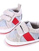 Серый Темно-серый Светло-синий-Дети-Для прогулок Повседневный-Дерматин-На низком каблуке-Обувь для малышей-На плокой подошве