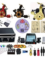 Complete Tattoo Kit 3 G3ZBRG Machines Liner & Shader Dual LED Power Supply