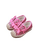 Baby Flats Spring Fall Comfort Fabric Outdoor Casual Flat Heel Sequin White Black Pink Walking