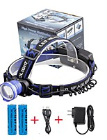 U'King® ZQ-X837BL#-US CREE XML T6 Zoomable 180 Rotate 3Modes Headlamp Bike Light Kits with Rear Safety LED