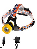 U'King ZQ-X8001BYellow-US CREE T6 2000LM LED Headlamps Kits 3 Mode Adjustable Focus Zoomable