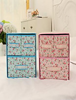 Storage Boxes Textile withFeature is Open  For Underwear Box Storage Box Random Pattern And Color