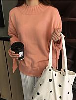 Sign Korea retro chic series cuff bow round neck sweater hedging warm sweater