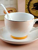 Minimalism Party Drinkware, 280 ml Simple Geometric Pattern Decoration Ceramic Tea Coffee Daily Drinkware