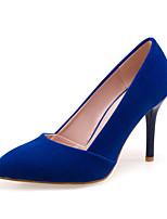 Mujer-Tacón StilettoTacones-Fiesta y Noche Vestido-Vellón-Negro Rojo Azul