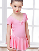 Ballet Dresses Children's Training Cotton Spandex 1 Piece Dress