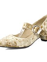 Bureau & Travail Habillé Décontracté-Vert Rose Violet Amande-Talon Bas-club de Chaussures-Chaussures à Talons-Laine synthétique