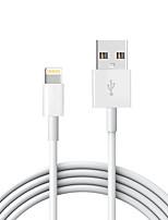 Lightning USB 2.0 Cordon Câble de Charge Câble de Chargeur Données & Synchronisation Normal Câble Pour Apple iPhone iPad 200 cm TPE