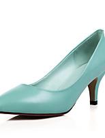 Damen-High Heels-Büro Kleid Party & Festivität-Leder-StöckelabsatzBlau