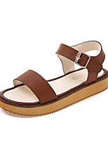 Sandals Summer Comfort Leatherette Dress Casual Flat Heel Buckle Walking