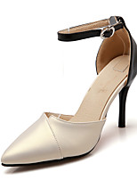 Sandals Summer Club Shoes D'Orsay & Two-Piece Ankle Strap Leatherette Wedding Party & Evening Dress Stiletto Heel Buckle Hollow-outPink