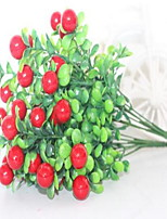 1 Branch Plastic Others Tabletop Flower Artificial Flowers  Simulation Fruit Tree Red Cherry
