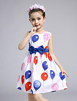 Girl's Print Dress,Cotton Summer Spring Sleeveless