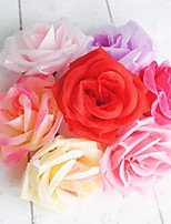1 Branch Fiber Roses Tabletop Flower Artificial Flowers Random Color