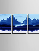 Abstrait Paysage Moderne,Trois Panneaux Toile Verticale Imprimer Art Décoration murale For Décoration d'intérieur