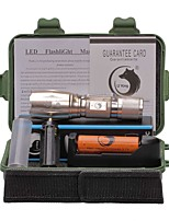 U'King ZQ-X1017GO#1-EU CREE XML T6 2000LM 5Modes Zoomable Clip Flashlight Torch Kit with Battery and Charger