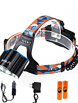 U'King ZQ-X806C-Blue-EU Cree XM-L T6 LED 6000LM 4 Mode Headlamps Kits Camping/Hiking/Caving Everyday Use Cycling/Bike Hunting Traveling Multifunction