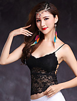 Belly Dance Women's Training Lace Lace 1 Piece Sleeveless High Top