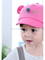 Kid's Cute Cotton  Pink/Red/Bule/Gray/Light Gray  Cat  Baseball Cap  From 6 To 18 Months