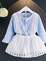 Girls' Casual/Daily Solid Sets,Cotton Summer Spring Fall Long Sleeve Clothing Set
