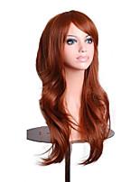 70cm costume cheveux orange brun femmes de mode ondulée synthétique partie lolita pleine perruque 4 cosplay couleurs
