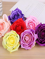 1 Ramo Plástico Rosas Flor de Mesa Flores artificiais 9*9*8