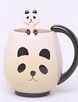 Cartoon Drinkware, 400 ml Boyfriend Gift Girlfriend Gift Ceramic Coffee Milk Coffee Mug