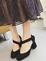Heels Spring Club Shoes Fleece Dress Chunky Heel Buckle