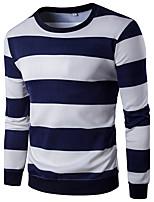 Sweatshirt Homme Décontracté / Quotidien Sportif Sortie Rayé Col Arrondi Micro-élastique Coton Manches Longues Printemps Automne
