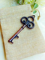 Vintage Skeleton Bottle Opener in Rustic Gift Bag Beter Gifts® Wedding Favor