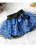 Girl's Holiday Color Block Dress / SkirtCotton / Polyester Summer / Blue Black