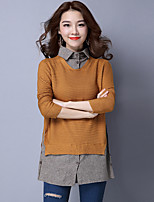 Sign new sweater hedging shirt female splicing false two sweaters tide