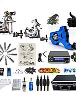 Kit de tatouage complet2 x Machine à tatouer en fonte pour le traçage et l'ombrage 1 x Machine à tatouer rotative pour le traçage et
