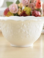 1 Pcs Ceramic Dining Bowl Cherry Relief Dinnerware Dessert Bowl