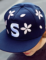 Fashion Women's Cherry Petals Embroidery Letters S Printing Baseball Hats Leisure Flat Cap
