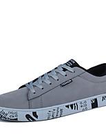 Для мужчин-Для прогулок Повседневный-Кожа-На плоской подошве-Удобная обувь Светодиодные подошвы-Кеды