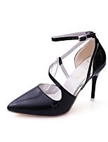 Bureau & Travail Habillé-Noir Rose Argent-Talon Aiguille-Confort-Chaussures à Talons-Polyuréthane
