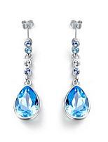Boucles d'oreille goutte Cristal Cristal Mode Bleu de minuit Bijoux Quotidien Décontracté 1 paire